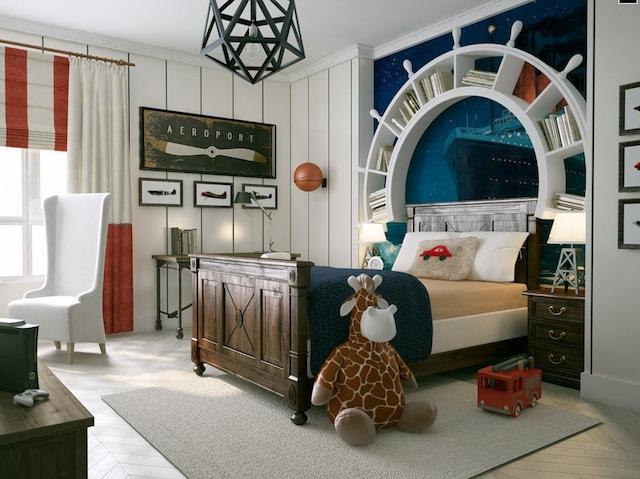 Travel-themed-kids-room