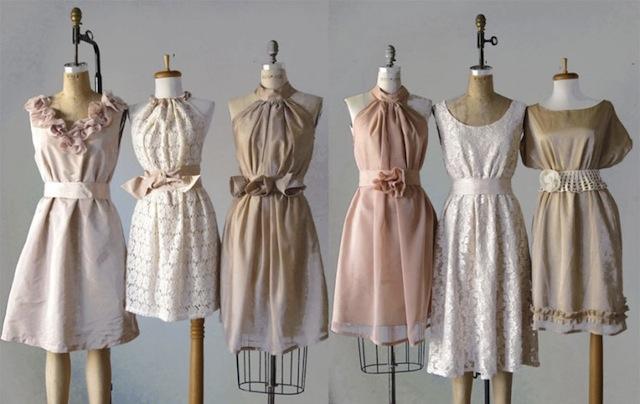 bridesmaid_blues_bridesmaid_dresses_inspiration__ideas__retro_style_bridesmaid_dresses_fettii