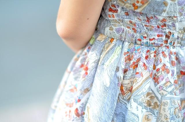 carven paris print dress